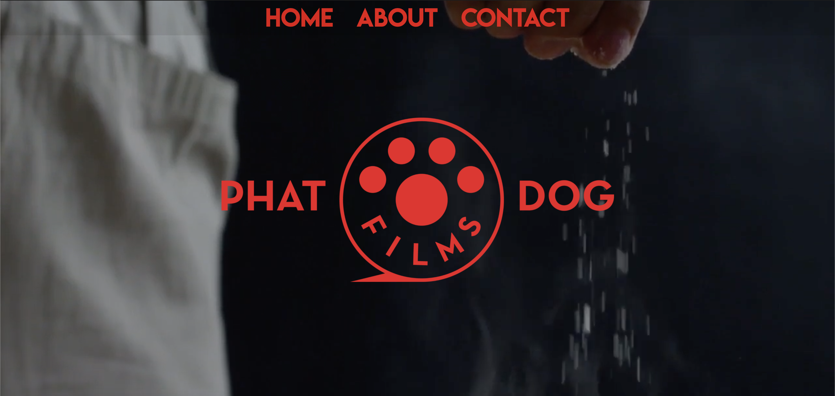 An image of the website design and logo for Phat Dog Films