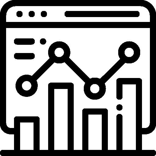 An icon representing search engine optimisation aka SEO