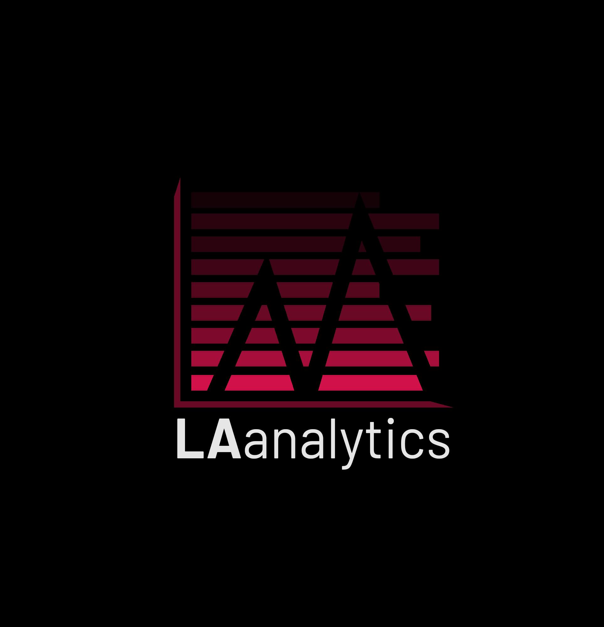 An alternative logo design for LA Analytics