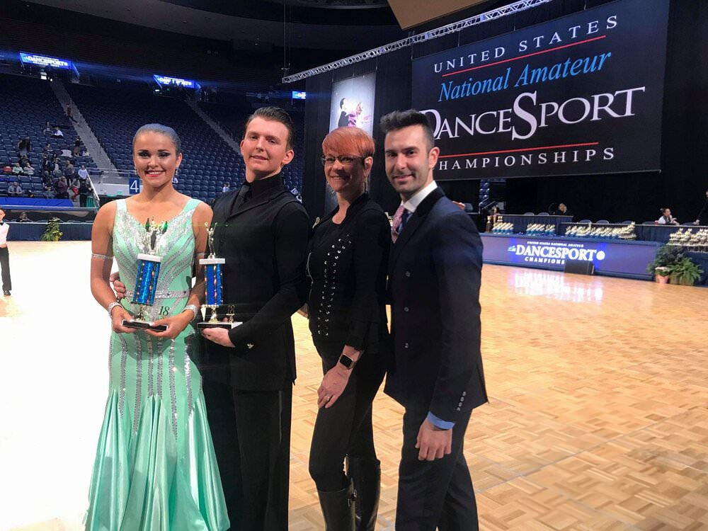 Atanas at US National Championships with couples coached by him