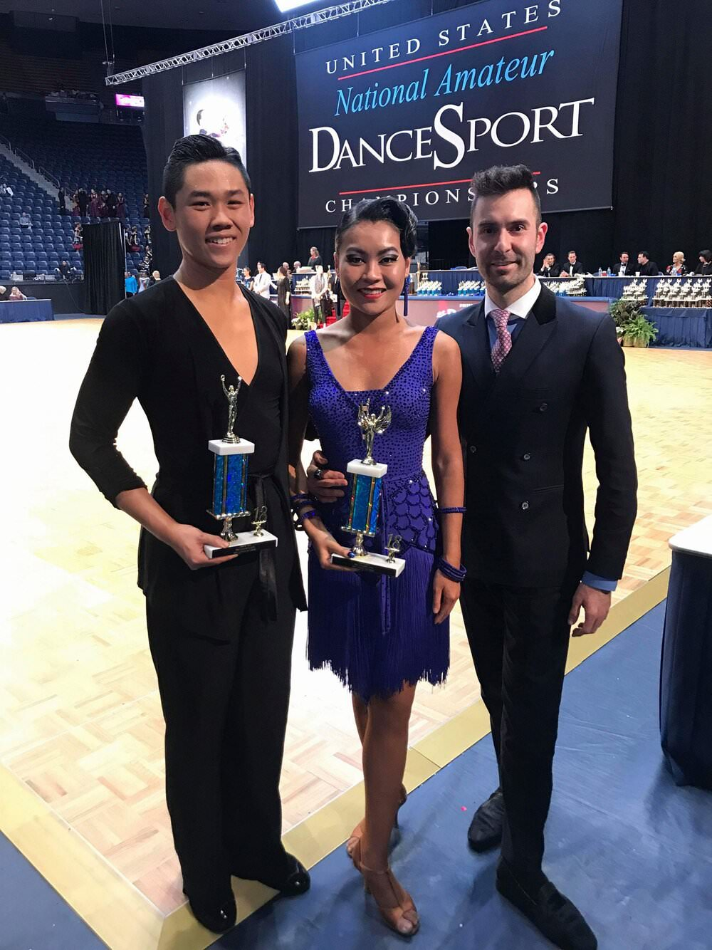 a picture of Atanas and his couple at Us National Championships