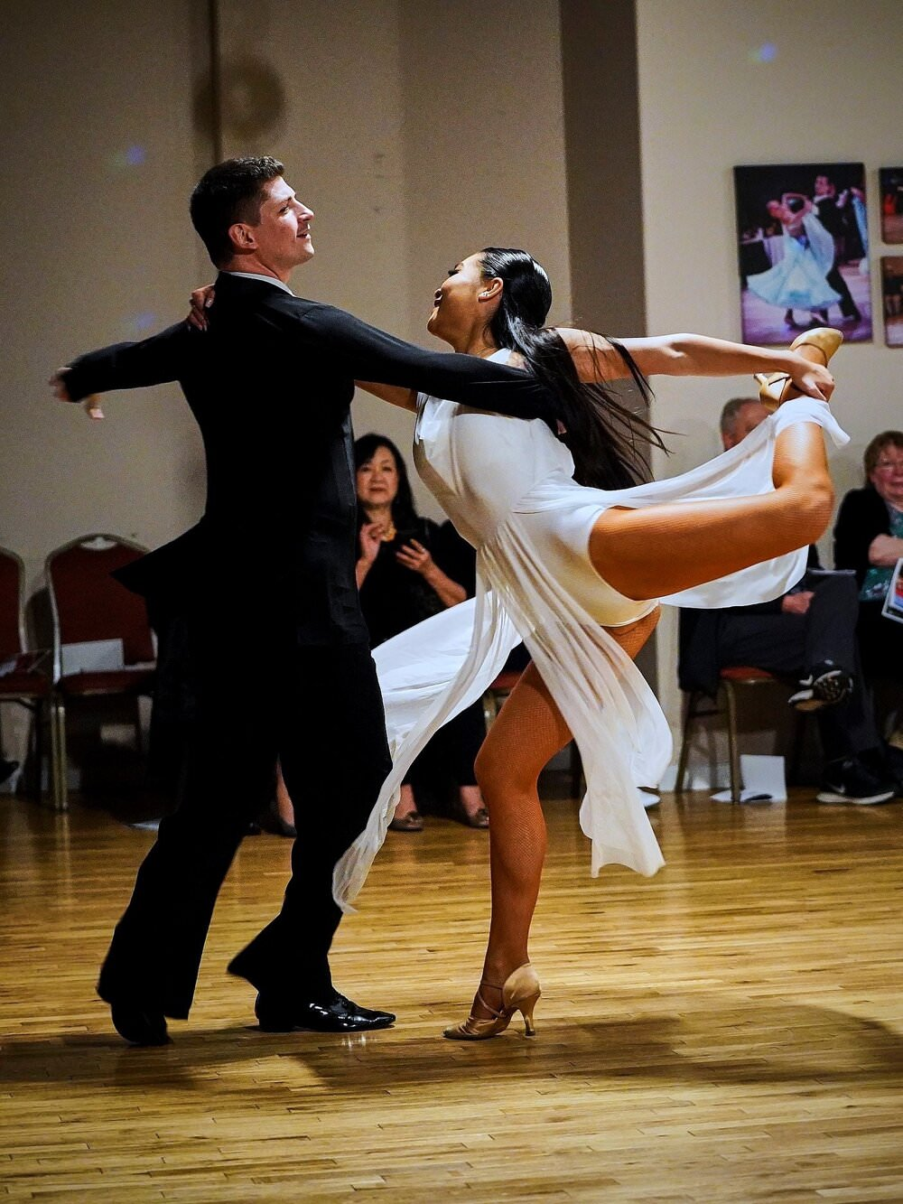 a picture of Adam and Rachel- American Smooth couple coached by Atanas
