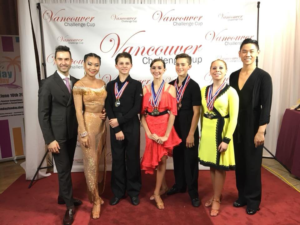 a picture of couples coached by Atanas Malamov at Vancouver Challenge cup