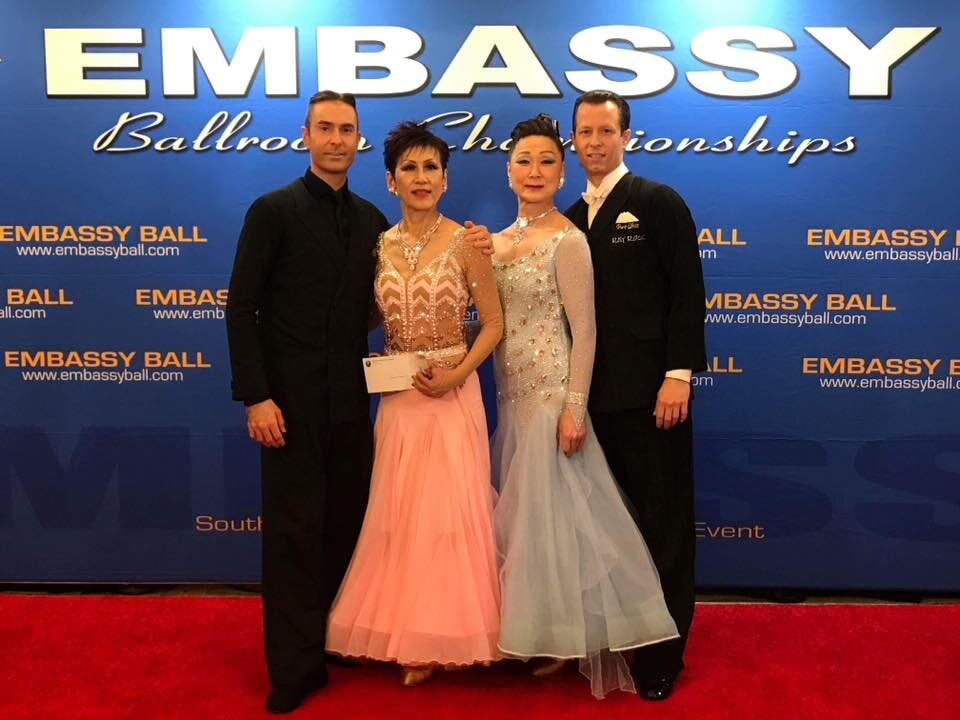 Atanas malamov with students at Embassy Ball