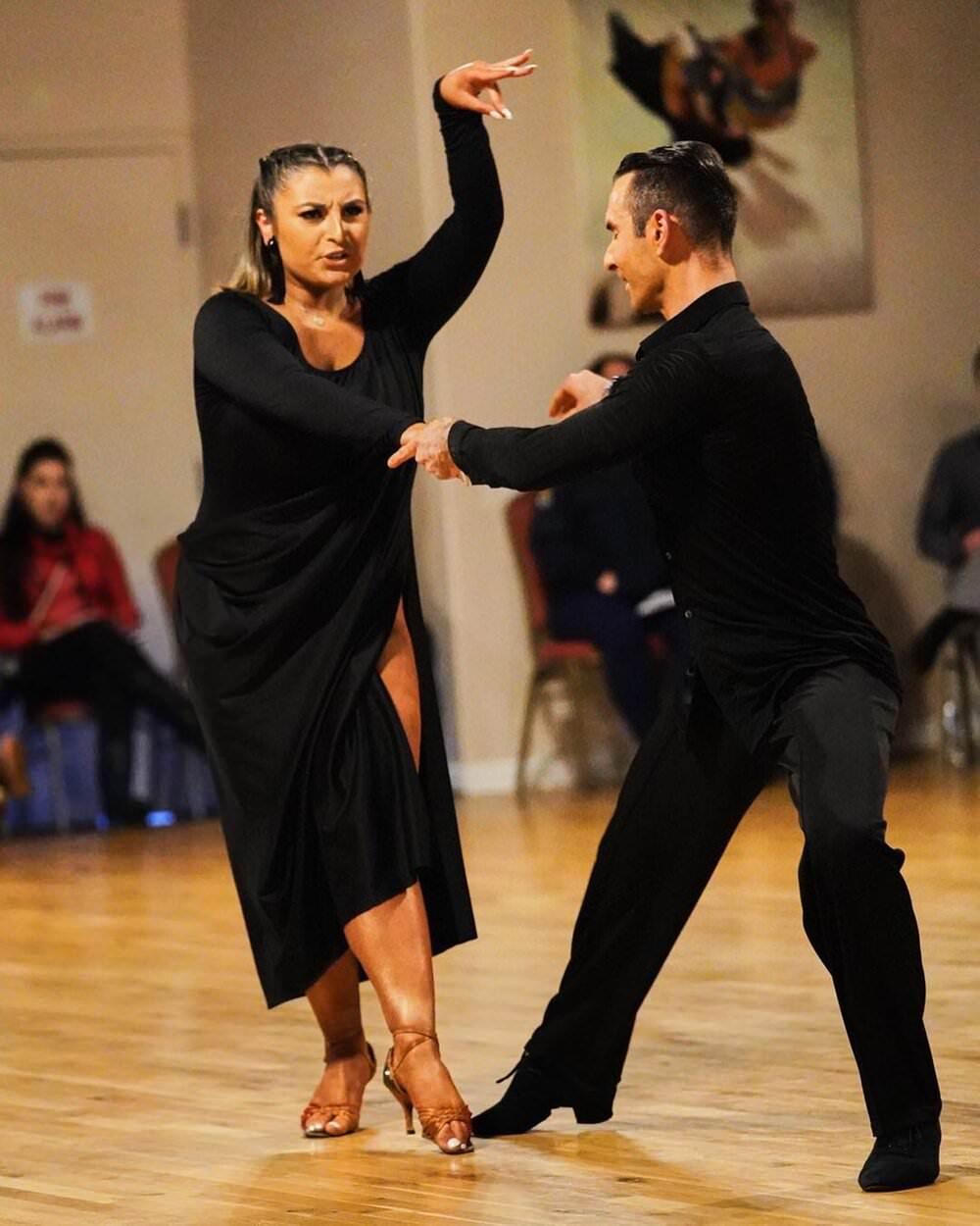 Atanas Malamov with students at Showcase at Aria Ballroom