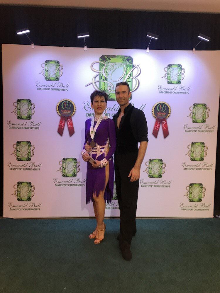 Atanas Malamov with students at Emerald Ball
