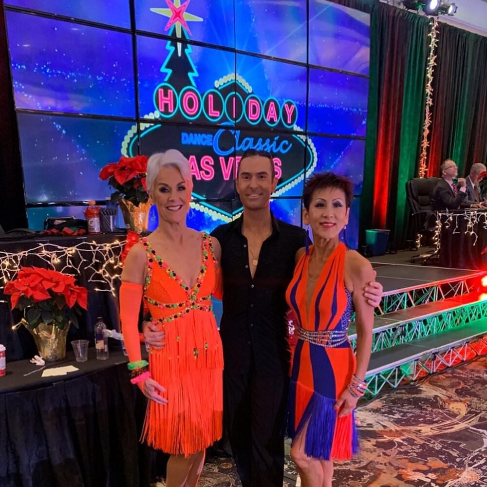 Atanas Malamov with students at Holiday Dance classic
