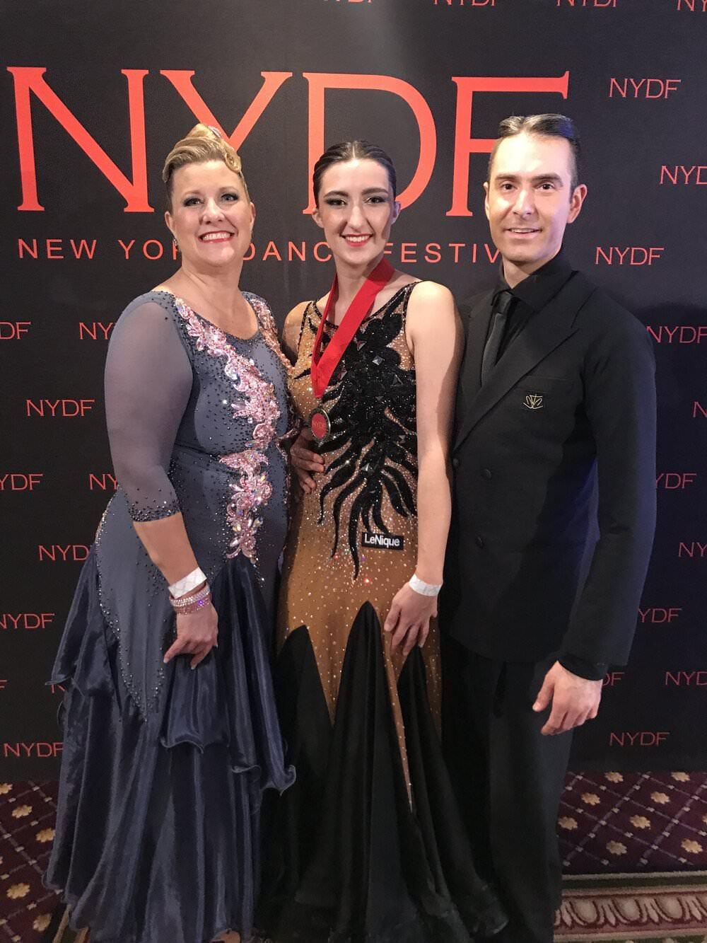 Atanas Malamov with students at New York Dance Festival