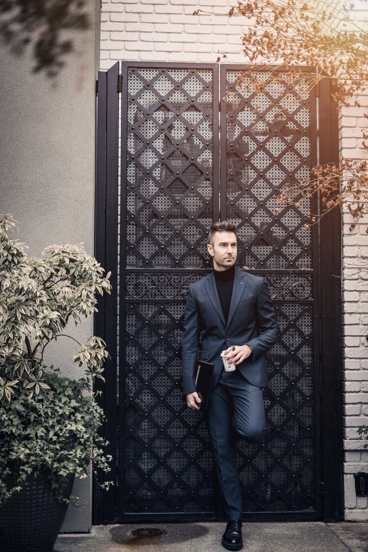 Atanas Malamov in an editorial photoshoot