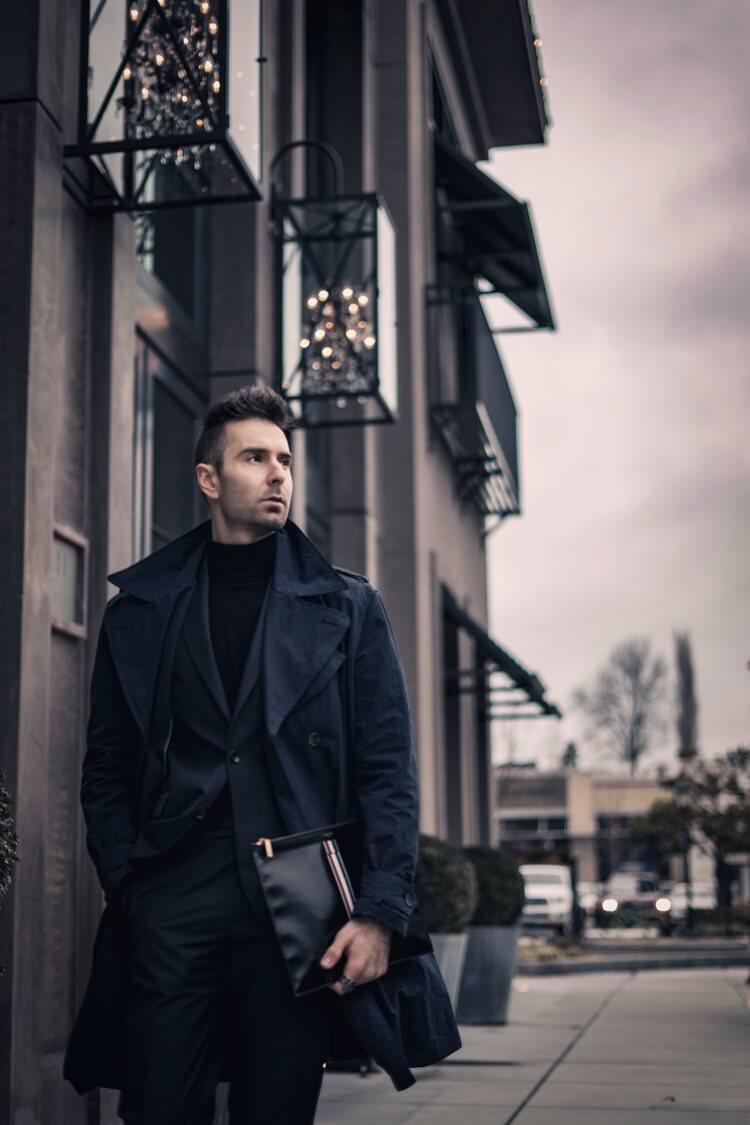Atanas Malamov in a fashion editorial photoshoot