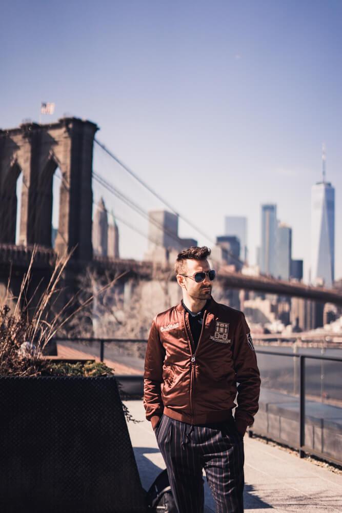Atanas Malamov in an editorial photoshoot in New York