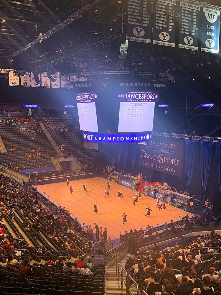 BYU Marriott Center- What a beautiful venue for National Championships.