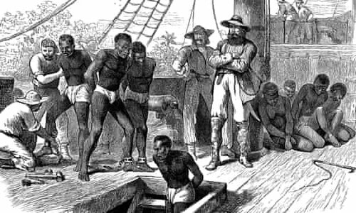 Image depicting slaves from Africa on ships