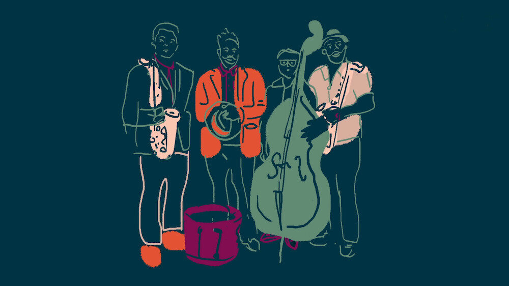 Musicians of Color playing instruments