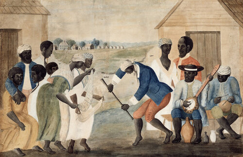 Slaves on plantations in the South