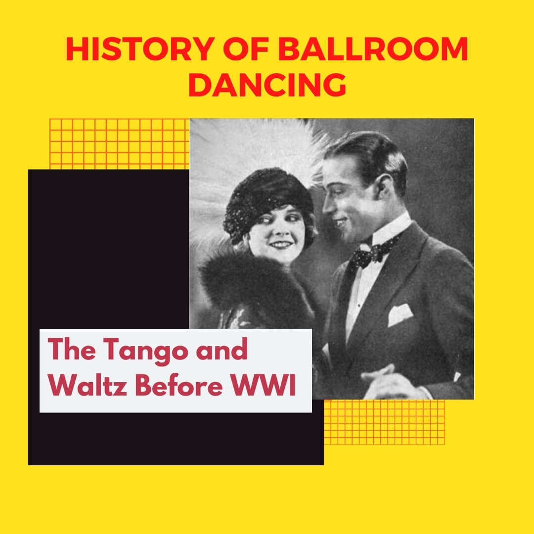 a picture of Maurice and Florence Walton dancing the tango