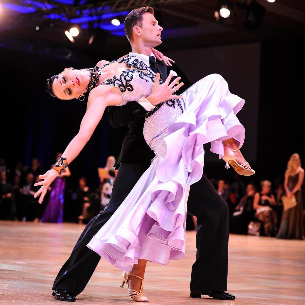 a picture of Slawek and Marzena dancing american smooth