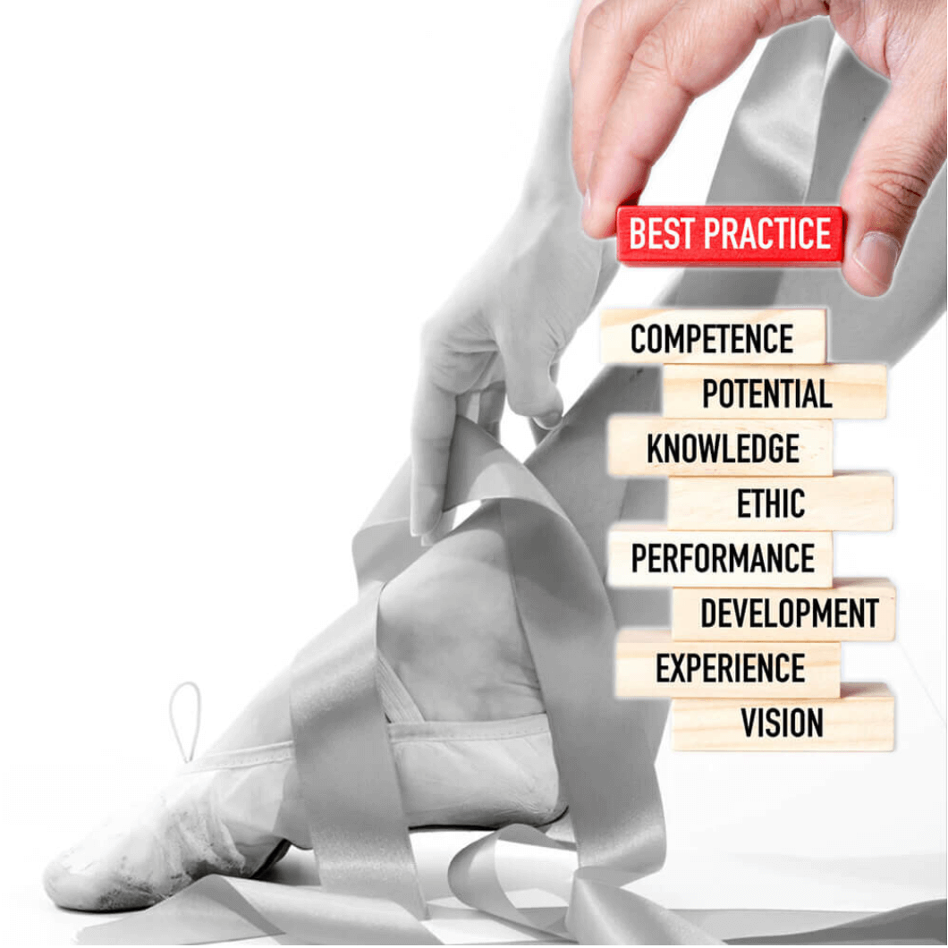 a picture showing the building blocks of a good practice