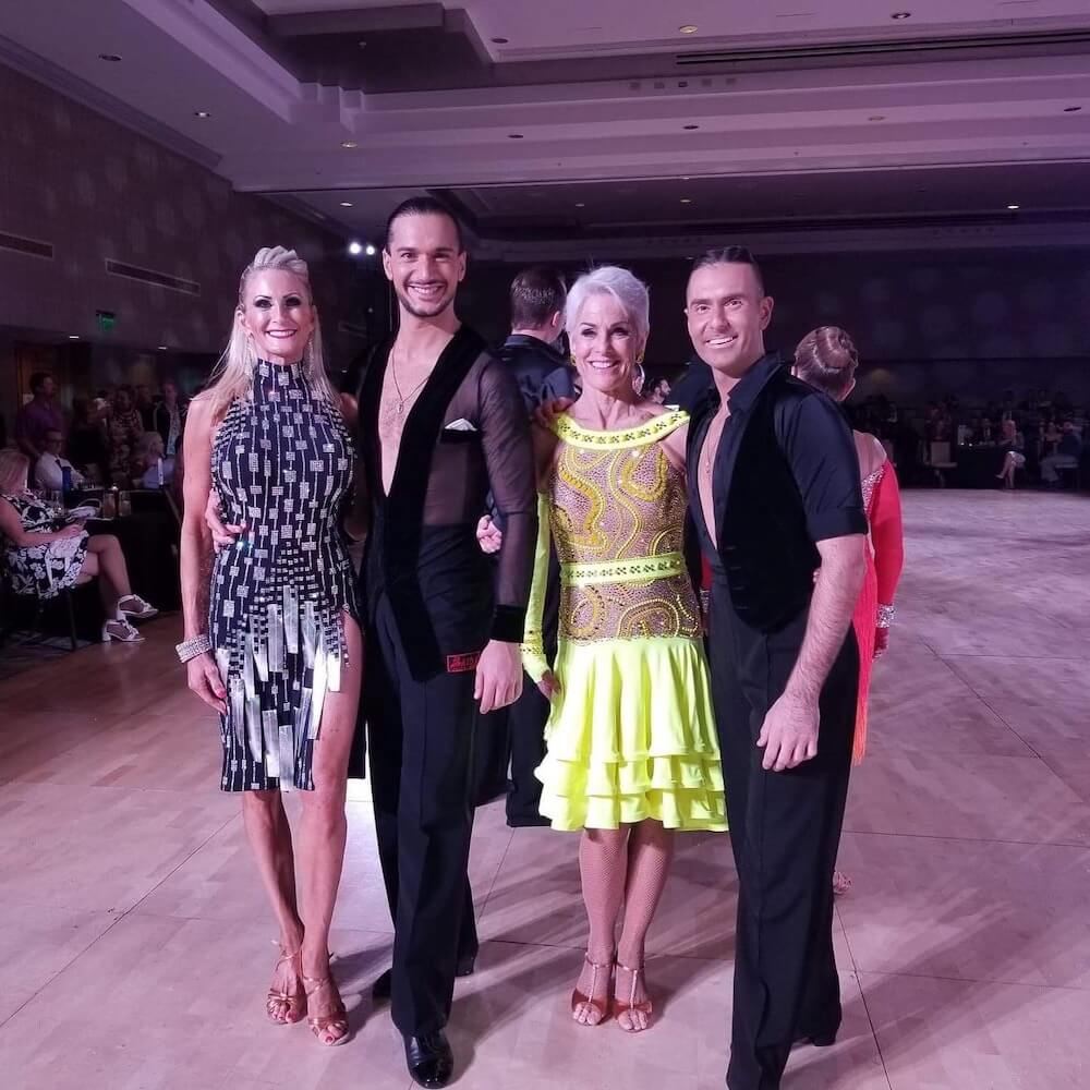 A picture of ballroom dancers at Galaxy Dance Festival