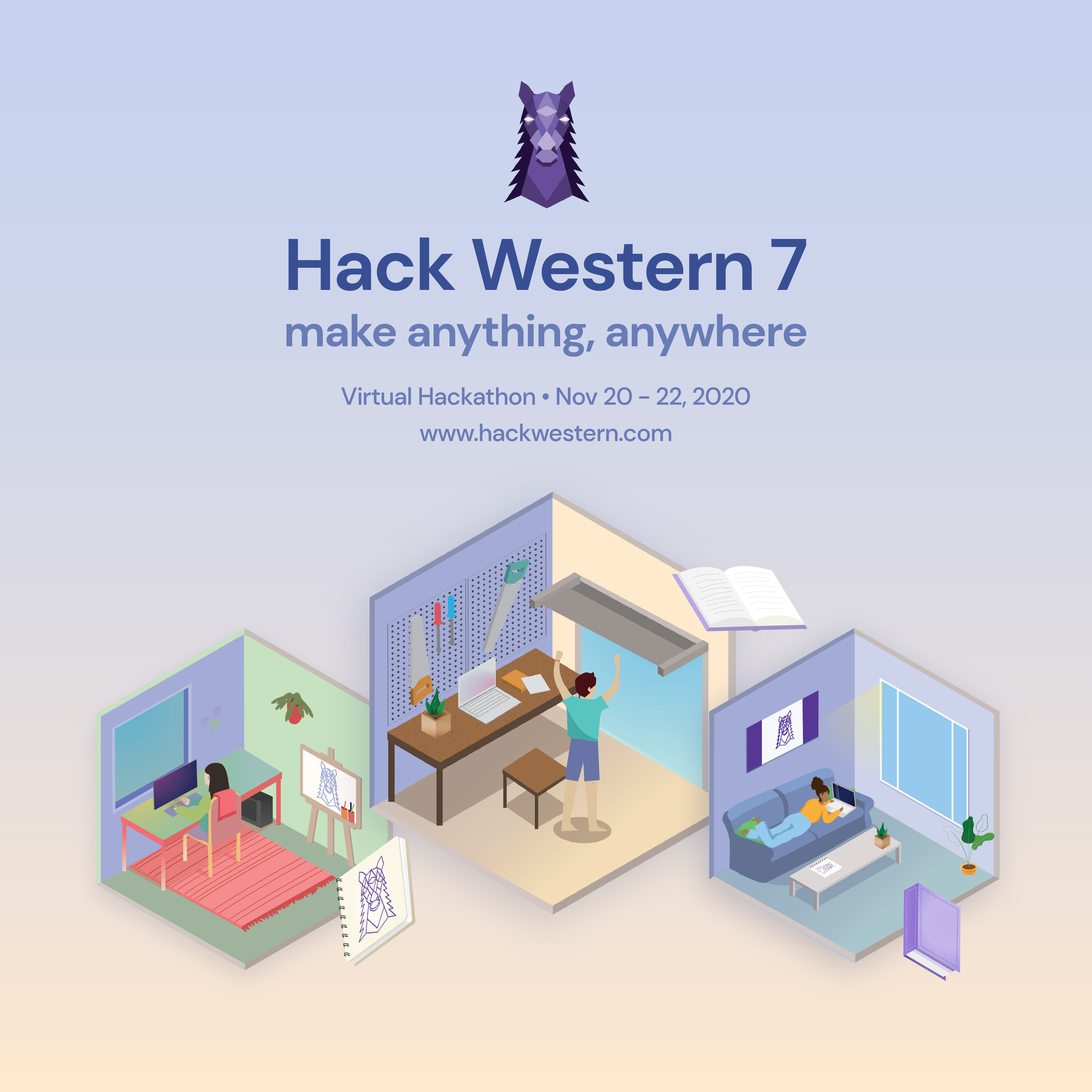 Graphic introducing Hack Western 7 applications