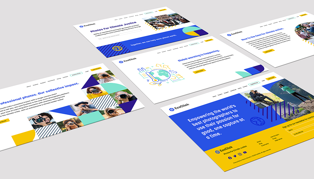 Multiple website page layout for EcoClick