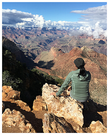 Holly Greiff looking at the Grand Canyon in Arizona