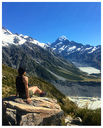 New Zealand mountain view with Holly Greiff