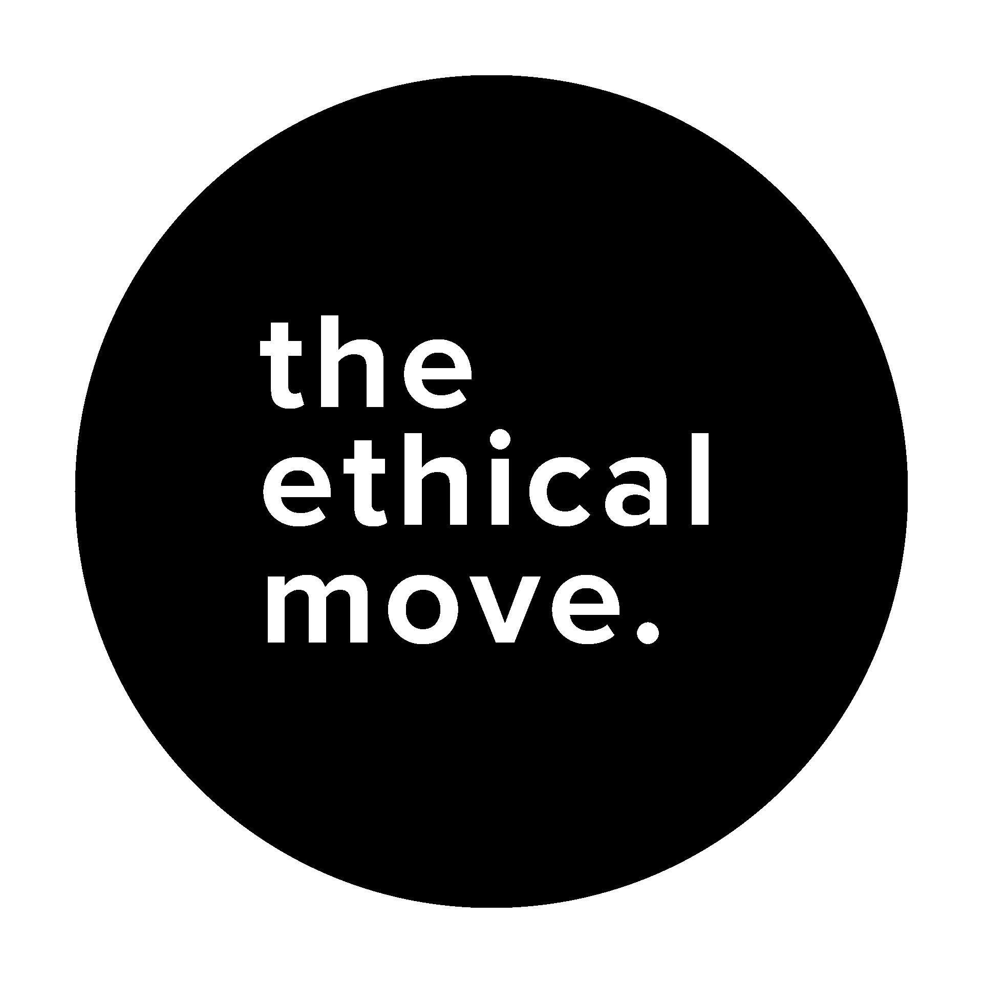 The Ethical Move logo circle black