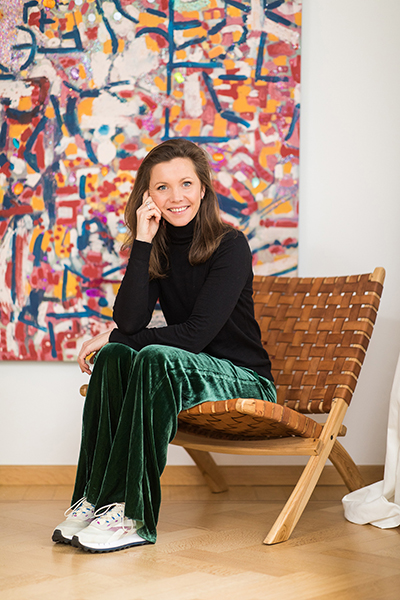 Alexia Werrie Belgian Art Gallerist and Art Consultant in her Gallery House in Tervuren