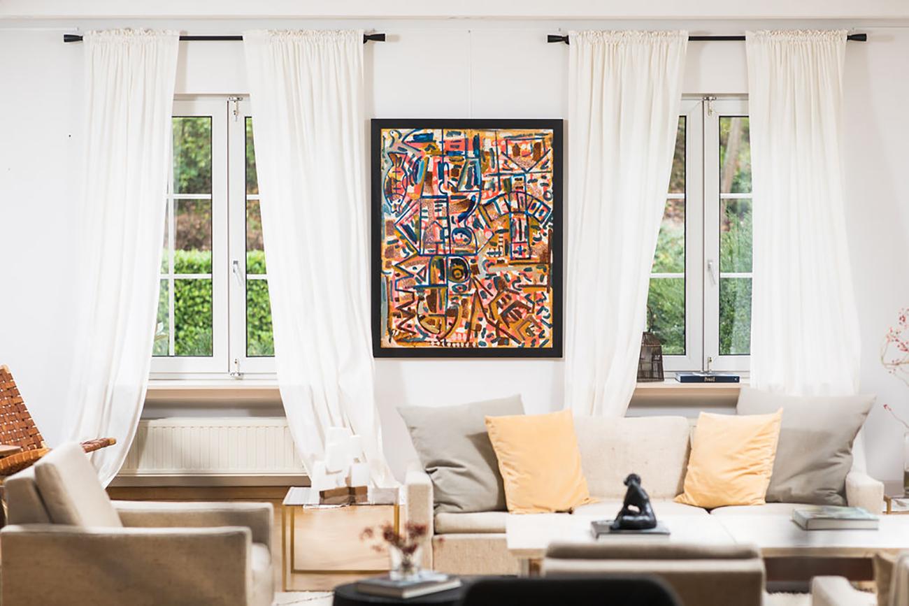 Manuel Esnoz abstract painting alexia werrie gallery art in a house tervuren brussels belgium