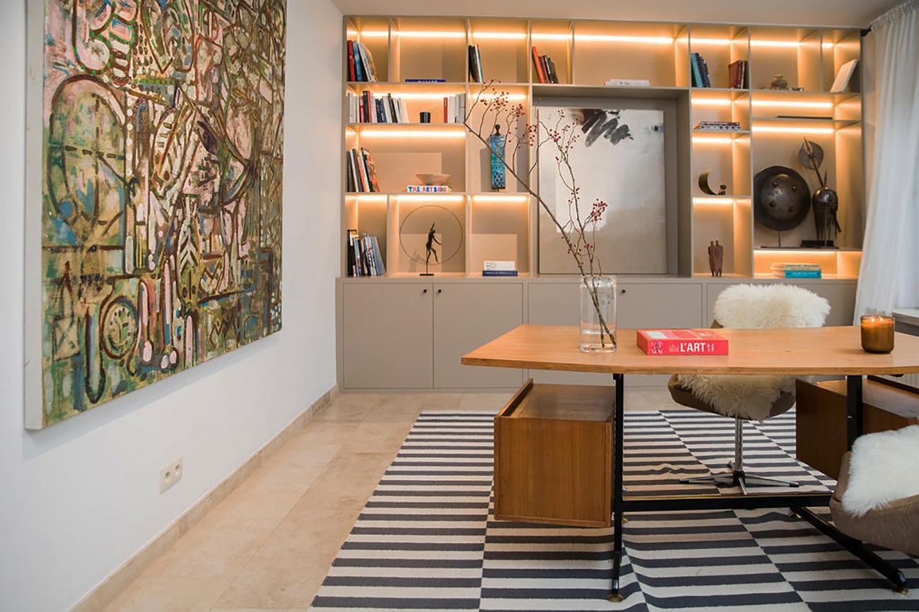 Manuel Esnoz abstract painting alexia werrie gallery art in a house tervuren brussels belgium office