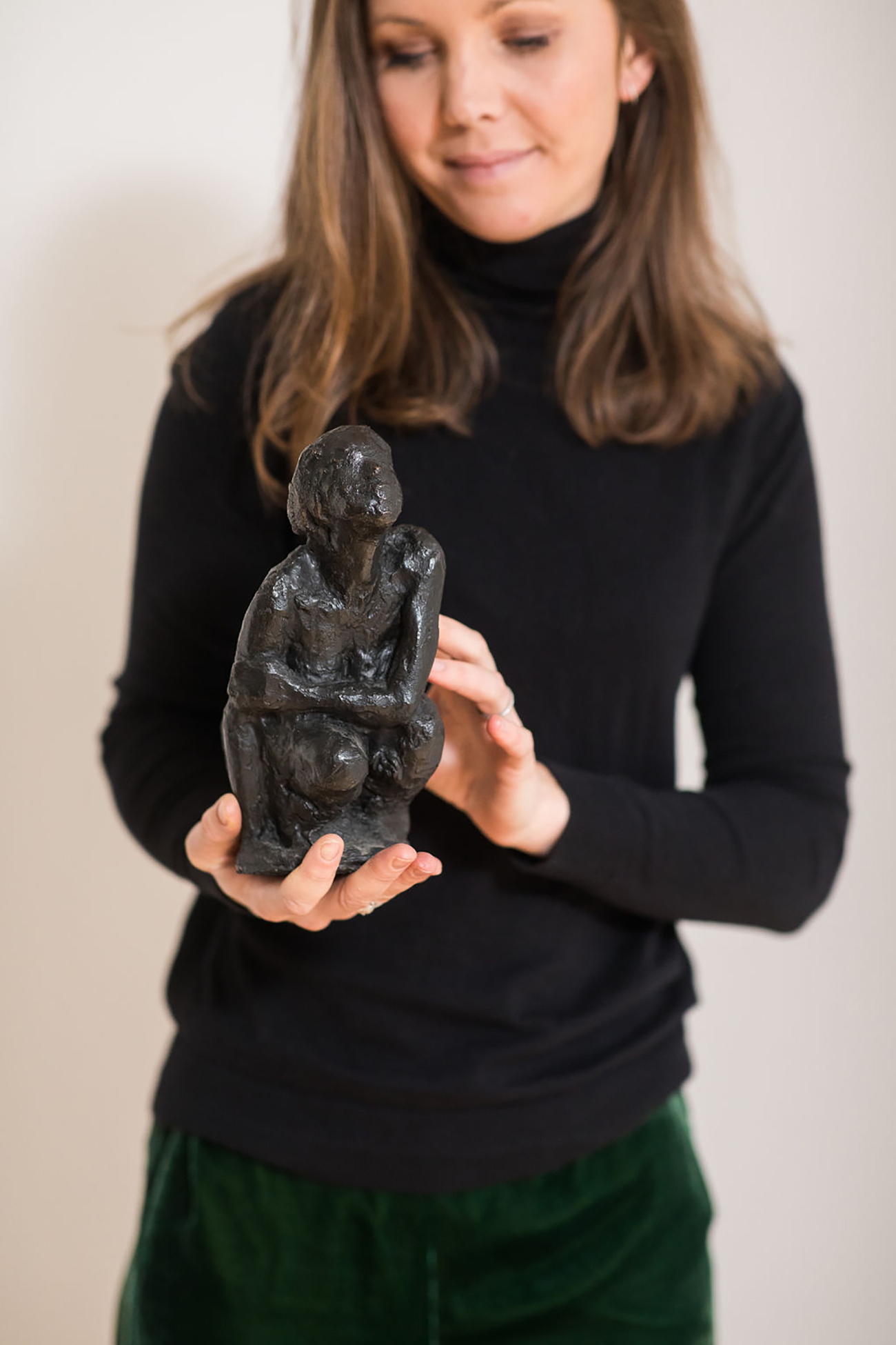Anne De Mol sculpture bronze woman Alexia Werrie Gallery Art in a House Tervuren Brussels Belgium