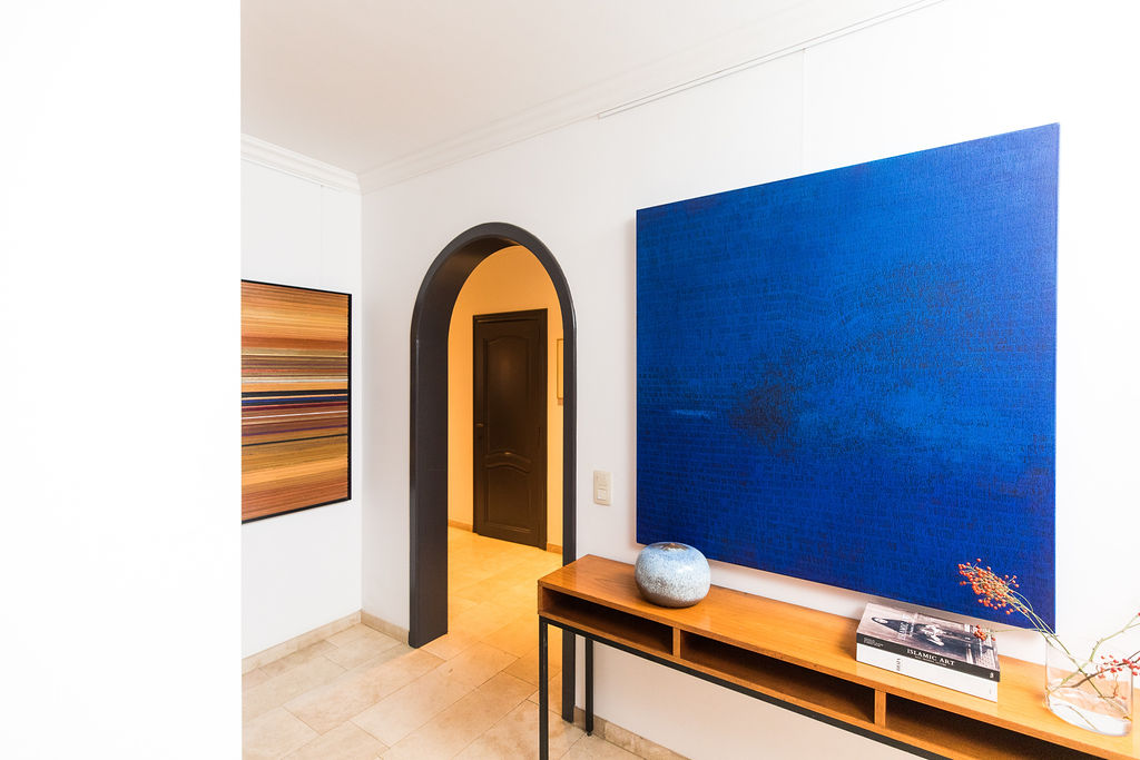 IMG Charlotte Vindevoghel Abstract painting blue alexia werrie art gallery tervuren brussels belgium