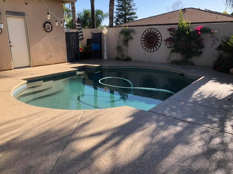 Pool Deck Concrete Coating In Bakersfield California