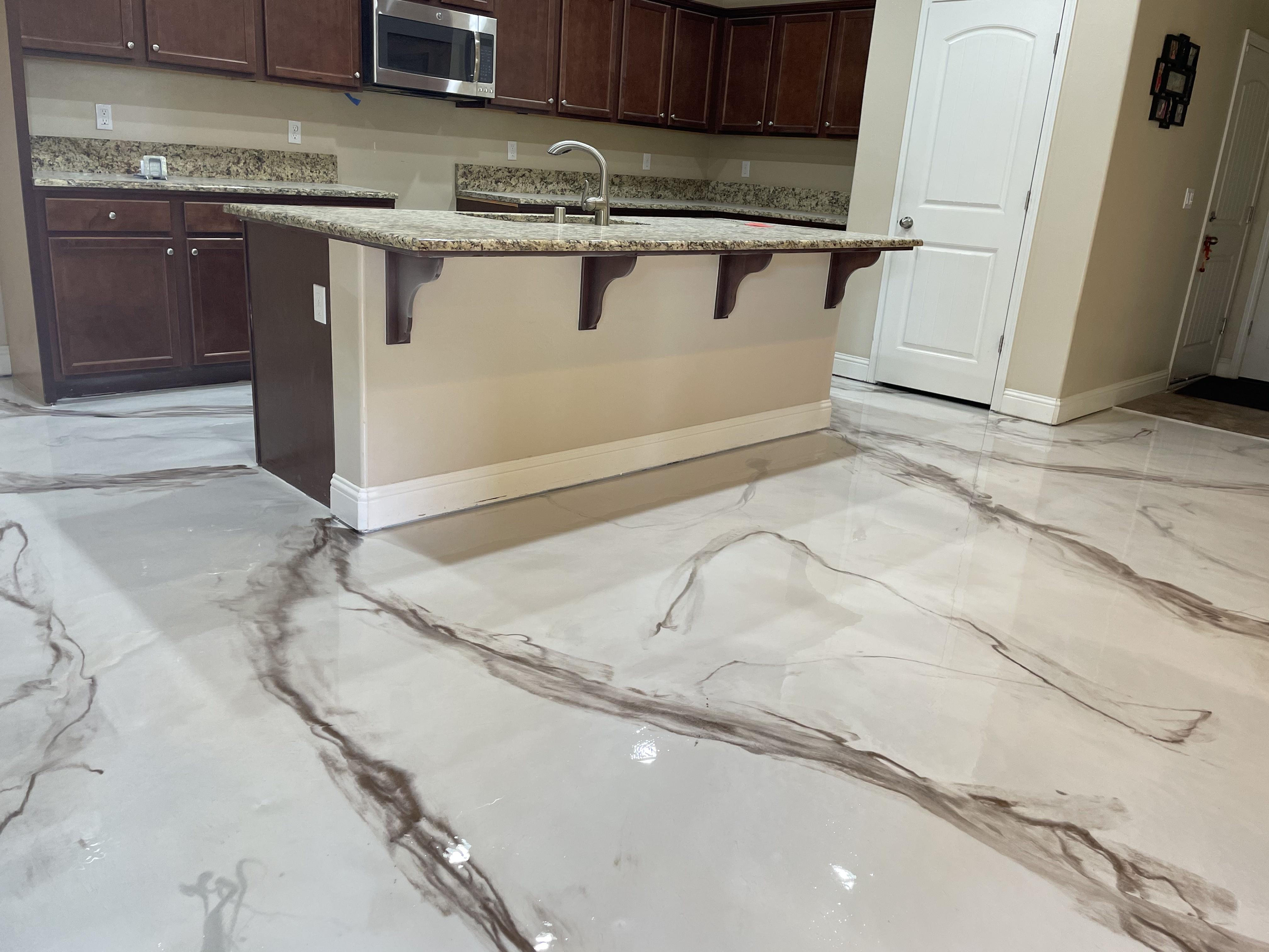 Kitchen Epoxy Flooring Bakersfield