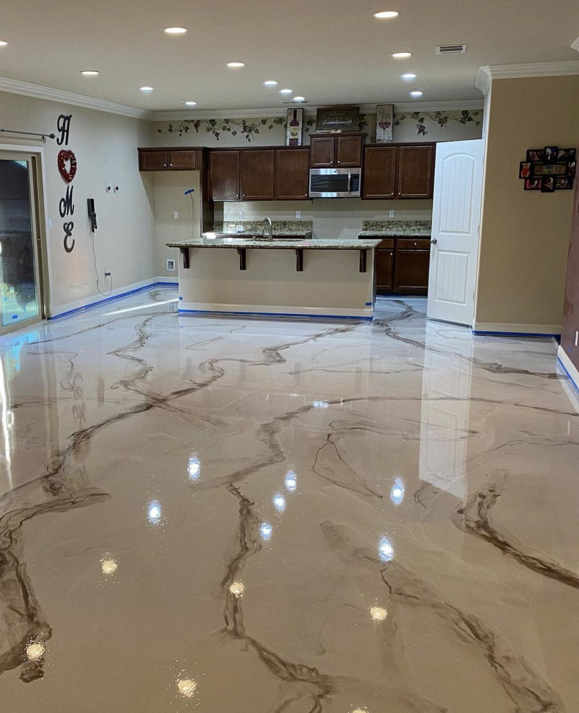 Beautiful Epoxy Flooring In Kitchen Bakersfield