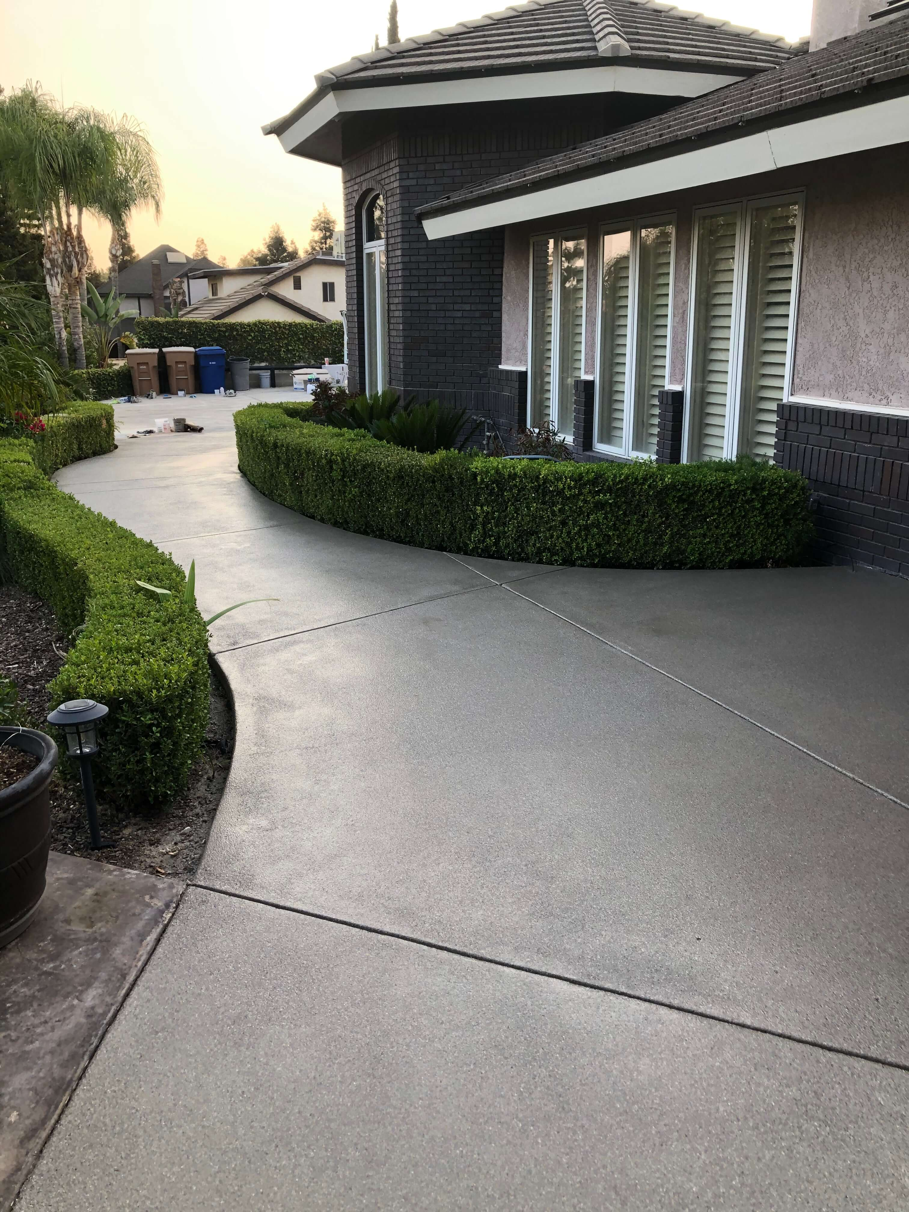 Outdoor Concrete Coating at a home in Bakersfield California