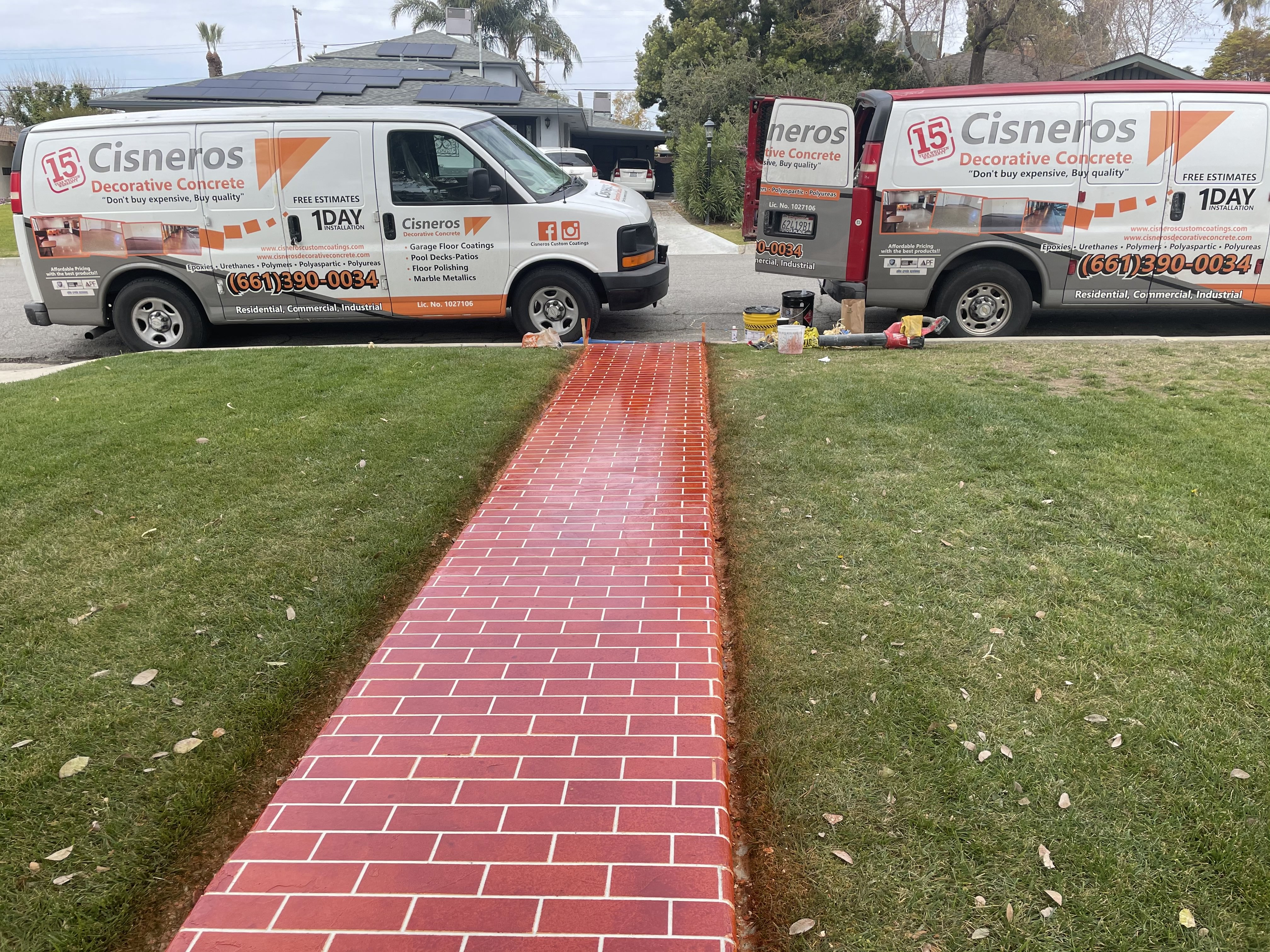 Residential Home Pathway Concrete Coating Bakersfield