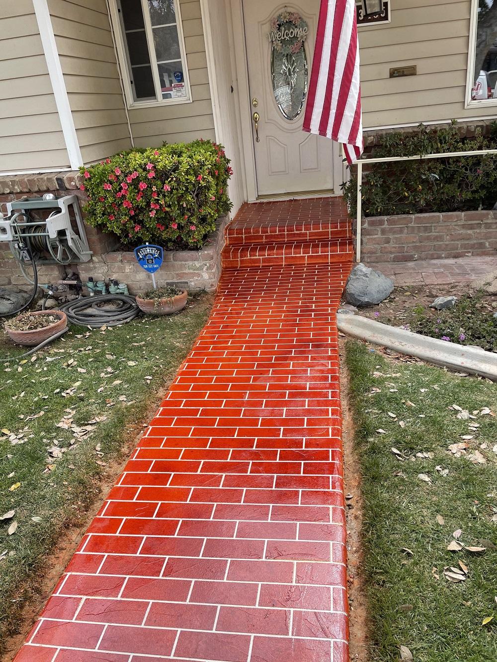 Concrete Flooring Pathway Bakersfield California