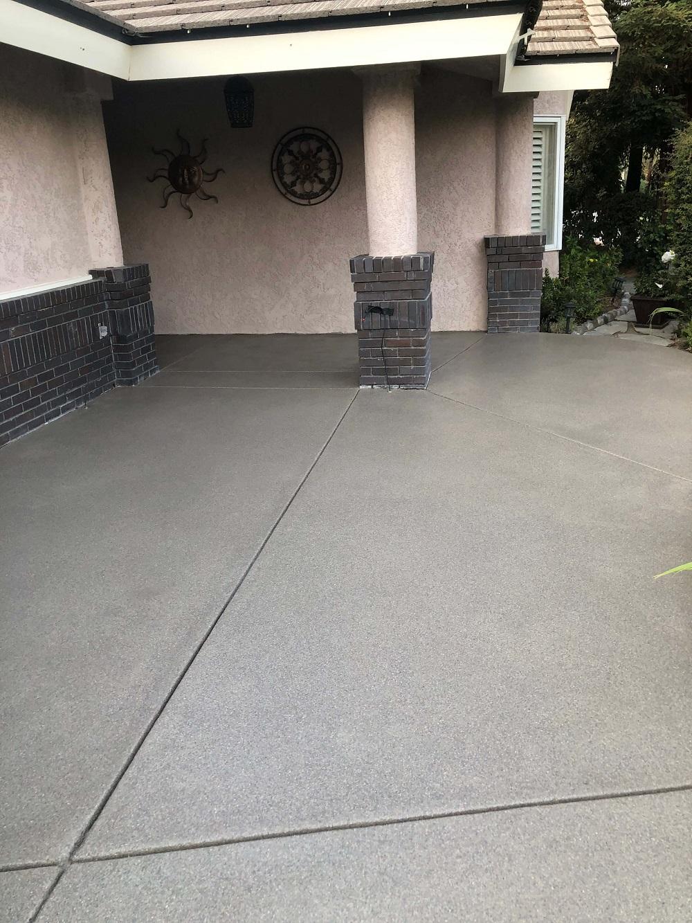 Outdoor Residential Concrete Flooring Bakersfield California