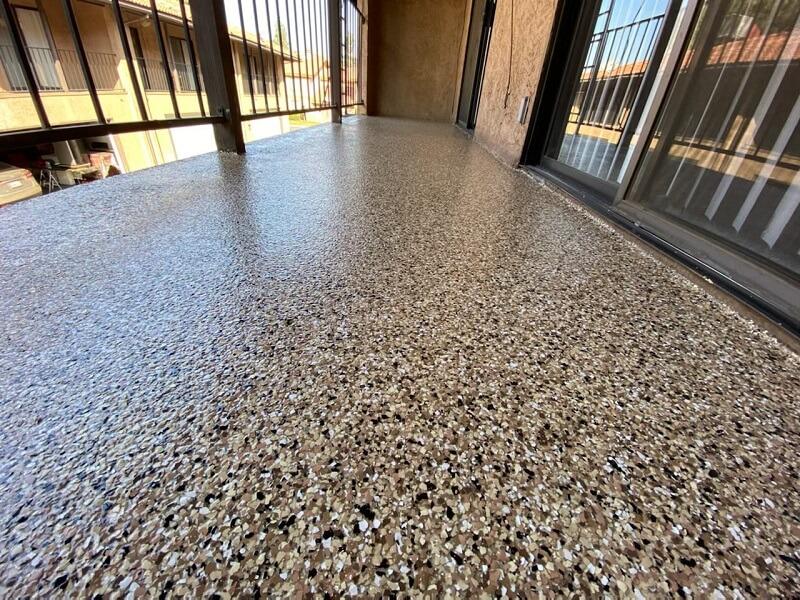 Balcony Flake Flooring Bakersfield California