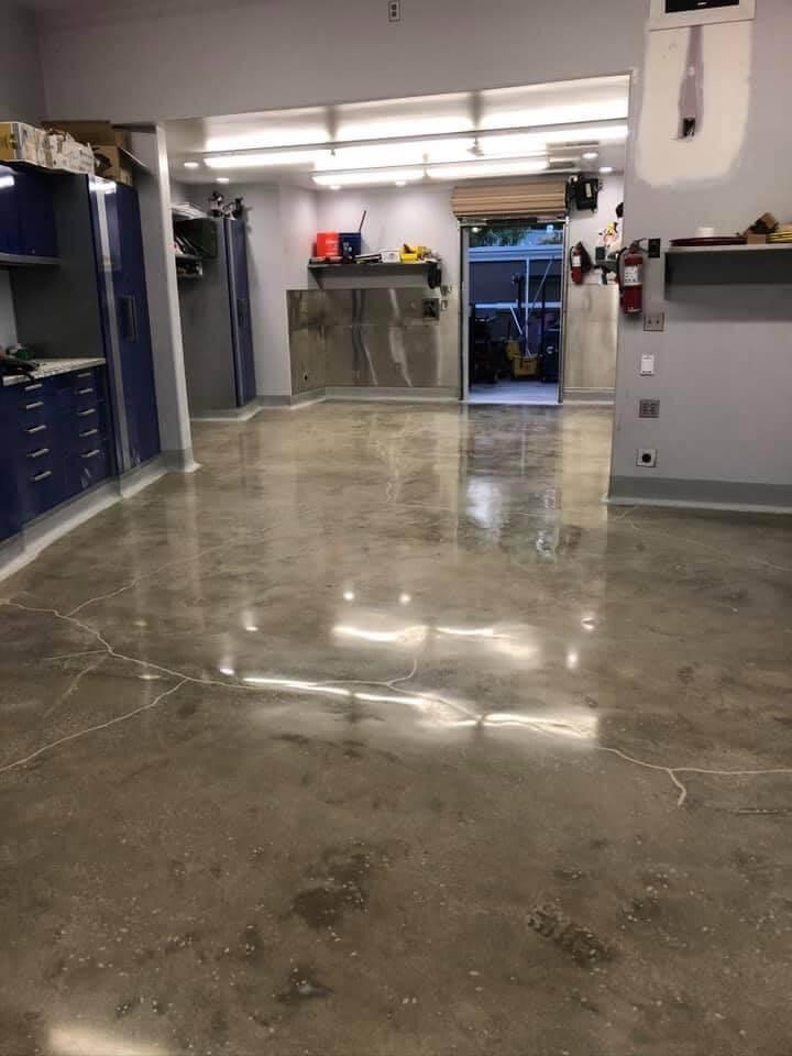 Industrial epoxy flooring in Bakersfield California
