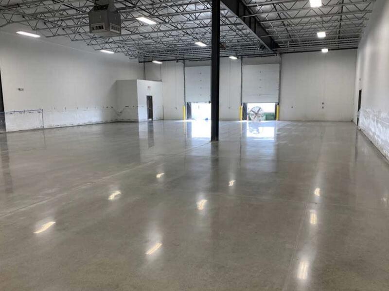 Warehouse concrete polishing in Bakersfield California