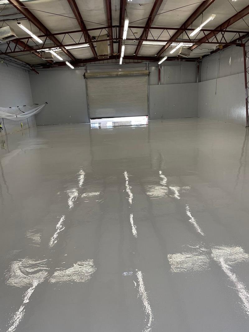 Epoxy Flooring in Warehouse Bakersfield California