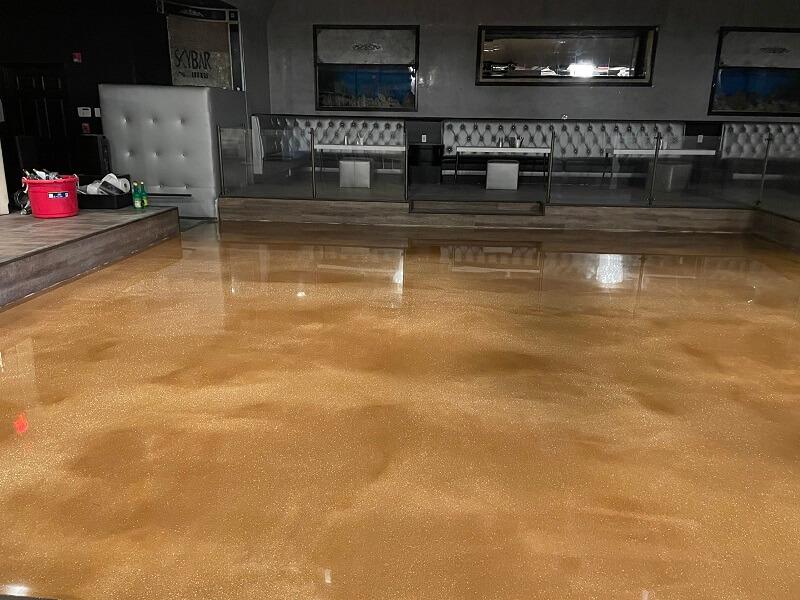 Epoxy Flooring in a Bar in Bakersfield California