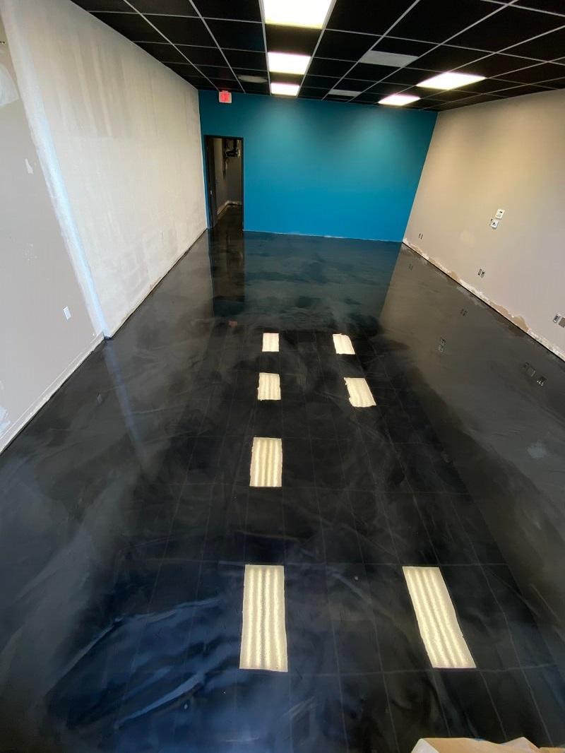 Black Epoxy Metallic Flooring in Bakersfield California
