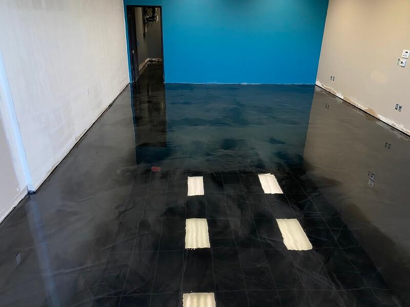 Black Marble Epoxy Flooring Bakersfield California