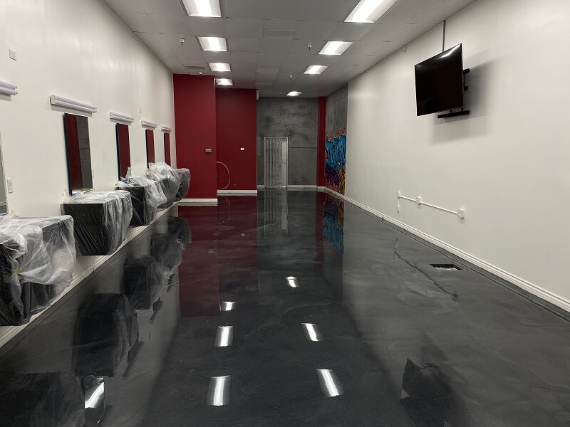 Black Metallic Epoxy Flooring Bakersfield California