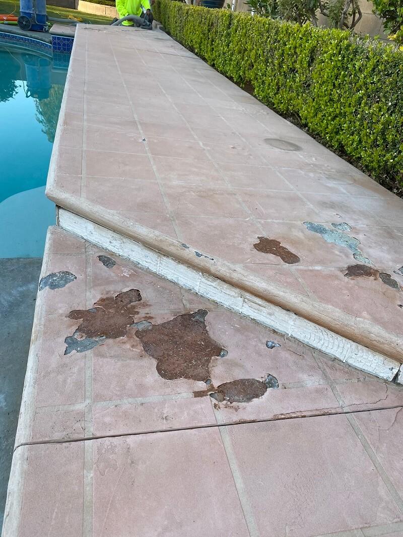 Concrete Coating Prep Around Pool Deck