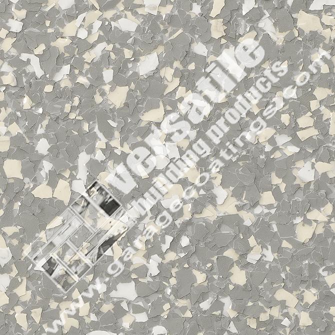 Light Grey Flake Flooring Bakersfield